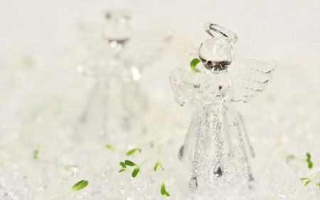 Wallpaper baggrund engel og spirer FRISKE SPIRER small