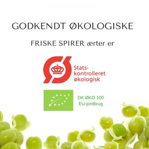 Oekologiske aerter certificerede spirefroe fra FRISKE SPIRER
