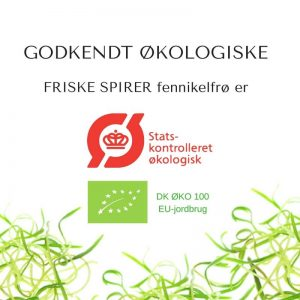 Oekologiske fennikel certificerede spirefroe fra FRISKE SPIRER