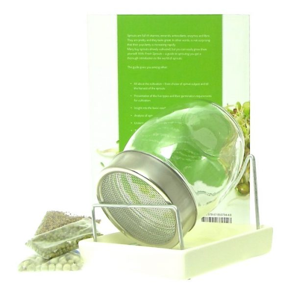 GEO sprout jar kit with danish seeds and book FRISKE SPIRER