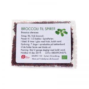 Portionsposer oekologiske spirefroe Broccoli FRISKE SPIRER