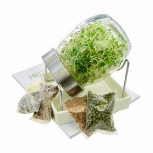 Sprout jar kit with organic sprouting seeds FRISKE SPIRER