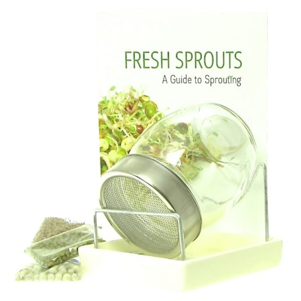 Sprout jar kit + sprouting seeds + sprout book FRISKE SPIRER