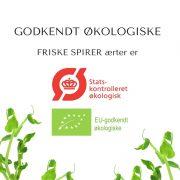 Ærter økologimærke FRISKE SPIRER