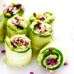 Spirer i kold lun og varm mad agurkeruller FRISKE SPIRER