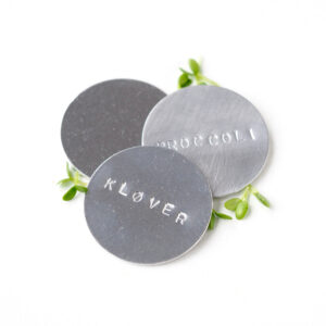 plantemaerke i metal aluminium