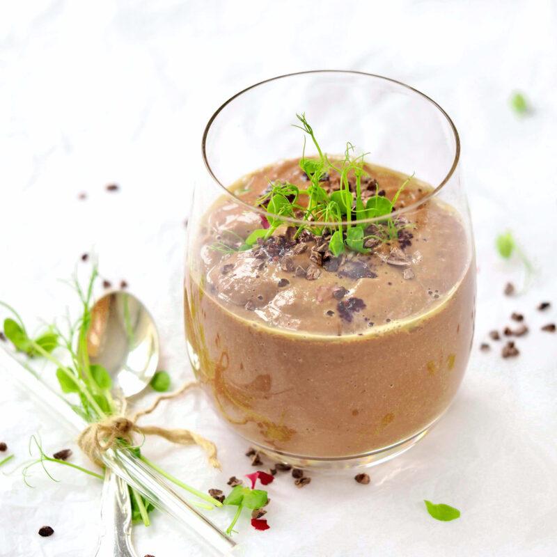 Chokolade smoothie med aerteskud